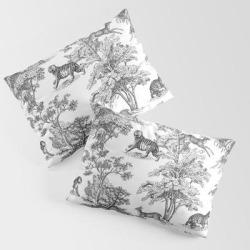 Hunting King Size Pillow Sham by Anyuka - STANDARD SET OF 2 - Cotton