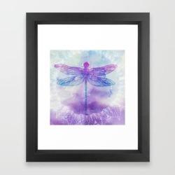Framed Art Print | Mandala Dragonfly by Rskinner1122 - Vector Black - X-Small-10x12 - Society6 found on Bargain Bro from Society6 for USD $31.61