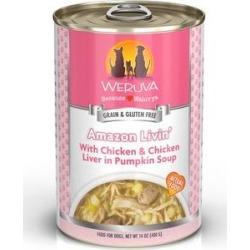 Weruva Amazon Liver with Chicken & Chicken Liver in Pumpkin Soup Dog Food, 14-oz can, 12ct