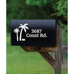 Personalized Planet Mailboxes - White Palm Trees Personalized Mailbox Decal found on Bargain Bro Philippines from zulily.com for $13.99