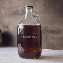 Will You Be My Groomsman? 64-ounce Craft Beer Growler found on Bargain Bro from Overstock for USD $20.51