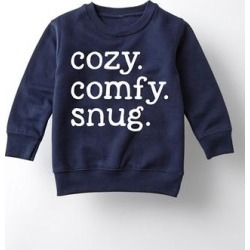 Instant Message Girls' Sweatshirts and Hoodies NAVY - Navy 'Cozy Comfy Snug' Crewneck Sweatshirt - Toddler & Girls found on Bargain Bro from zulily.com for USD $13.67