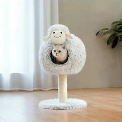 ZEZE Little Sheep 25-in Sisal Cat Tree, Large found on Bargain Bro Philippines from Chewy.com for $87.99