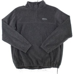 Columbia Mens Sweater Gray Size XL 1/2 Zip Fleece Stand-Collar Logo (XL), Men's found on MODAPINS from Overstock for USD $38.98