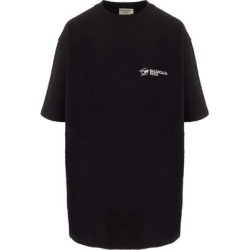 Oversize Logo T-shirt - Black - Balenciaga Tops found on Bargain Bro from lyst.com for USD $502.36