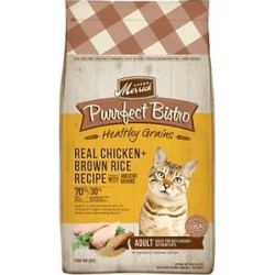 Merrick Purrfect Bistro Healthy Grains Real Chicken + Brown Rice Recipe Adult Dry Cat Food, 12-lb bag