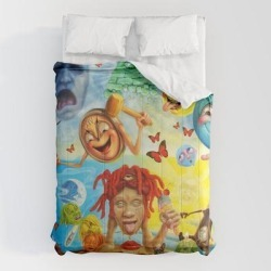 Comforters   How Trippie Make Music Redd Cartoon by Me537 - Queen: 88