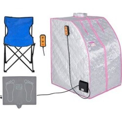 Somubi Far Infrared Home Sauna For One Person Spa Portable Folding Sauna Room For Home, Size 38.58 H x 27.95 W x 30.7 D in | Wayfair found on Bargain Bro Philippines from Wayfair for $233.00