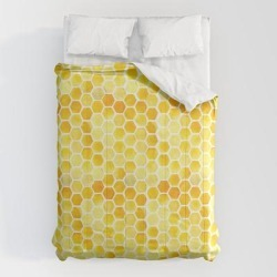 Comforters | Watercolour Honeycomb by Zoa<< Swann - Queen: 88