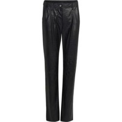 Croco Effect Pants - Black - Koche Pants found on MODAPINS from lyst.com for USD $267.00