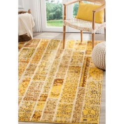 Safavieh Yellow/Multi Monaco Synthetic Power Loomed Geometric Area Rug Collection found on Bargain Bro Philippines from belk for $94.50