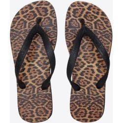 Women - Havaianas Leopard-printed Flip Flops - Natural - RIVE DROITE Flats found on MODAPINS from lyst.com for USD $65.00