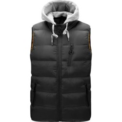 Winter New Men's Jacket Jacket Casual Hooded Detachable Fashion Vest Trend Thick Warm Cotton Coat found on MODAPINS from Overstock for USD $66.12