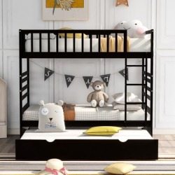 TiramisuBest Twin Bunk Beds for Kids with Safety Rail