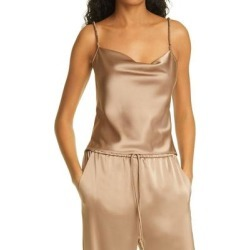 Abby Ruched Camisole - Natural - Nanushka Tops found on MODAPINS from lyst.com for USD $295.00