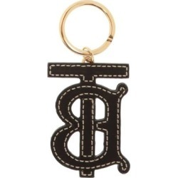 Leather Monogram Keyring - Black - Burberry Earrings found on Bargain Bro India from lyst.com for $180.00