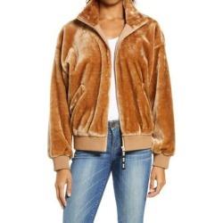 UGG Laken Mock Neck Fleece Jacket - Brown - Ugg Jackets found on Bargain Bro from lyst.com for USD $97.28