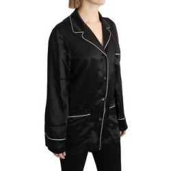 Dolce & Gabbana Black Shirt Silk Stretch Top Women's Blouse (it40-m) found on Bargain Bro India from Overstock for $488.00