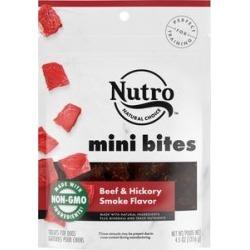 Nutro Mini Bites Beef & Hickory Smoke Flavor Dog Treats, 4.5-oz bag