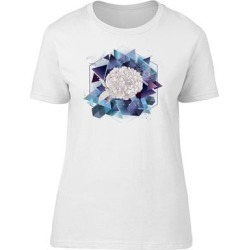 Lovely Abstract Floral Geometry Tee Women's -Image by Shutterstock (L), White(cotton, Graphic) found on Bargain Bro Philippines from Overstock for $13.29