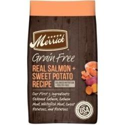 Merrick Grain-Free Real Salmon & Sweet Potato Recipe Dry Dog Food, 22-lb bag