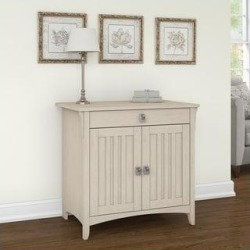 The Gray Barn Lowbridge Secretary Desk with Keyboard Tray and Storage Cabinet (White) found on Bargain Bro Philippines from Overstock for $205.19