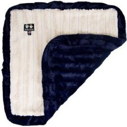 Bessie + Barnie Classy Plain Ultra Plush Faux Fur Reversible Dog & Cat Blanket, Natural Beauty & Midnight Blue, Medium found on Bargain Bro Philippines from Chewy.com for $82.00