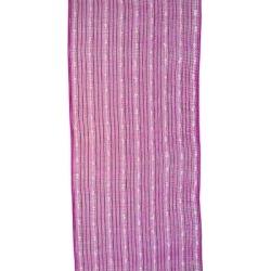 The Holiday Aisle® Ribbon Poly Foil Cottonball Mesh HotWhite 10.5