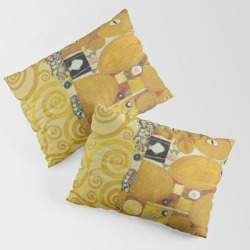 Pillow Sham | The Embrace - Gustav Klimt by Fineartpaintings - STANDARD SET OF 2 - Cotton - Society6 found on Bargain Bro from Society6 for USD $30.39
