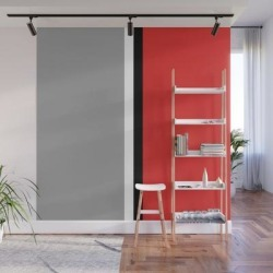 Wall Mural   Two Color And Black&white. Gray And Red by Artgenerations - 8' X 8' - Society6 found on Bargain Bro from Society6 for USD $182.39