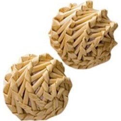 KONG Naturals Straw Balls Cat Toy, Straw Balls, 2-pack found on Bargain Bro India from Chewy.com for $5.99