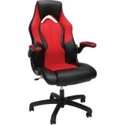 OFM Essentials Collection High-Back Racing Style Bonded Leather Gaming Chair in Red - OFM ESS-3086-RED found on Bargain Bro Philippines from totally furniture for $139.97