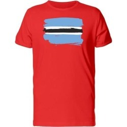 Paint Of Bostwana Flag Tee Men's -Image by Shutterstock (S), Red found on Bargain Bro from Overstock for USD $10.82
