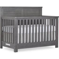 Evolur Belmar Flat 5 in 1 Convertible Crib in Rustic Grey - Dream On Me 884-RG