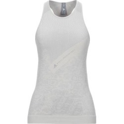 T-shirt - Gray - Adidas By Stella McCartney Tops found on Bargain Bro from lyst.com for USD $50.92