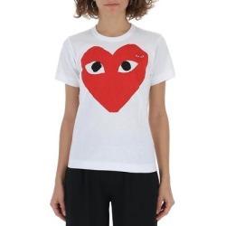Comme Des Garçons Play Double Heart Logo T-shirt - White - COMME DES GARÇONS PLAY Tops