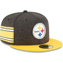 Pittsburgh Steelers New Era 2018 NFL Sideline Home Official 59FIFTY Fitted Hat - Black/Gold found on Bargain Bro Philippines from Fanatics for $37.99
