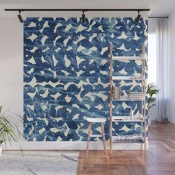 Wall Mural | Indigo Love by Grace - 8' X 8' - Society6 found on Bargain Bro from Society6 for USD $182.39