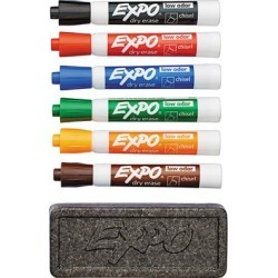 Expo 80556 Assorted 6-Color Chisel Tip Dry Erase Marker and Organizer Set found on Bargain Bro India from webstaurantstore.com for $7.89
