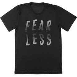 Nearly There Tee Shirts Black - Black 'Fearless' Wavy Tee - Adult found on Bargain Bro India from zulily.com for $12.99