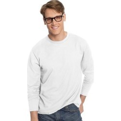 Hanes TAGLESS Nano-T Men's Long-Sleeve Tee (Deep Red - 2XL) found on Bargain Bro India from Overstock for $19.73