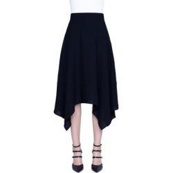 Wool-blend Handkerchief Skirt - Black - Akris Skirts found on MODAPINS from lyst.com for USD $995.00