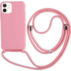 Tech Zebra Cellular Phone Cases Pink - Pink Protective Lanyard Phone Case for iPhone 12 found on Bargain Bro India from zulily.com for $12.99