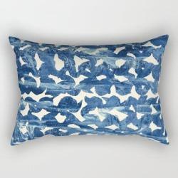 Rectangular Pillow   Indigo Love by Grace - Small (17