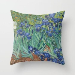 Throw Pillow   Irises by Vincent Van Gogh - Cover (16
