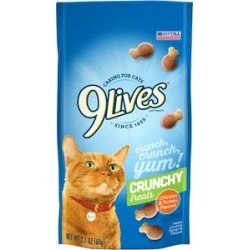 9 Lives Chicken & Turkey Flavor Crunchy Cat Treats, 2.1-oz, case of 12 found on Bargain Bro India from Chewy.com for $12.00
