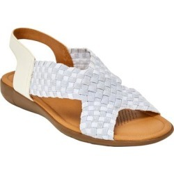 Extra Wide Width Women's The Celestia Sling Sandal by Comfortview in White Metallic (Size 7 WW) found on Bargain Bro Philippines from Ellos for $61.99