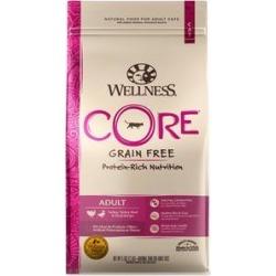 Wellness CORE Grain-Free Turkey, Turkey Meal & Duck Formula Dry Cat Food, 5-lb bag