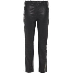 Leather Slim-leg Pants - Black - Muubaa Pants found on MODAPINS from lyst.com for USD $250.00