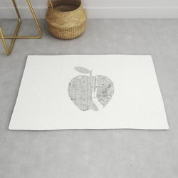 Modern Throw Rug | New York City Big Apple Poster Black And White I Heart I Love Nyc Home Decor Bedroom Wall Art by The Motivated Type - 2' x 3' - Society6 found on Bargain Bro India from Society6 for $34.30